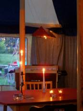 Candles in the bar
